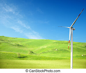 Clean energy concept  - important concept of clean energy