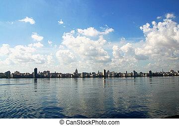 Centro Havana from the sea, Cuba