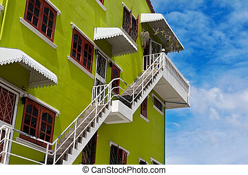 colored house in the sky
