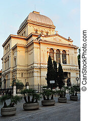 Jewish Synagogue in Rome, Italy - The Great Synagogue of...