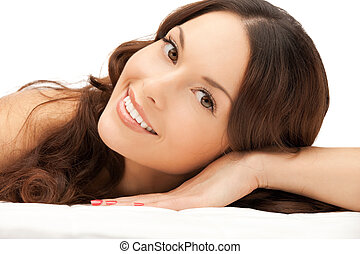beautiful woman in spa salon - picture of beautiful woman...