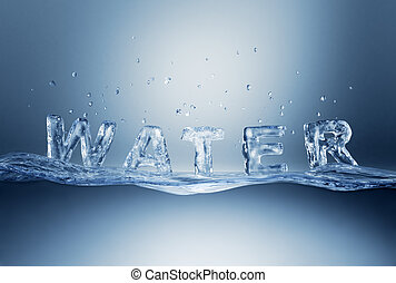 Water lettering on wave. - Water lettering on water wave....