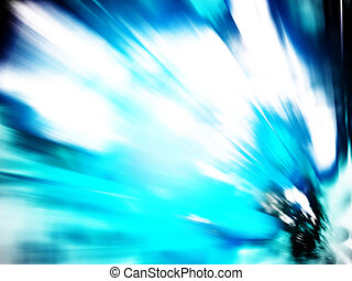 futuristic abstract - blue futuristic abstract with movement