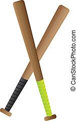 baseball bat - wood baseball bat isolated over white...