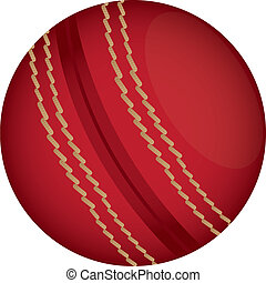 cricket - red cricket ball isolated over white background....
