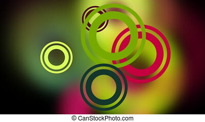 Colorful moving rings