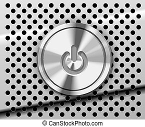 Mac Power Button - The Power Button on the perforated metal...