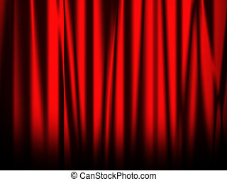 Red curtain of stage - red bright curtain of stage