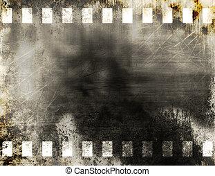 Film strip - Grunge old film strip background
