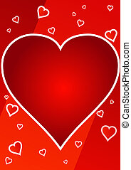 frame of big red heart