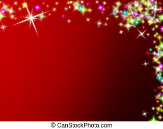 Colored Christmas stars background - Colored Christmas stars...