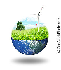 Clean energy concept - composition of clean energy concept