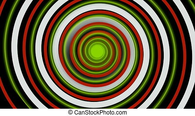 Colorful hypnotic spiral