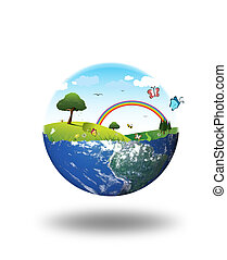 clean environment concept - composition of clean environment...