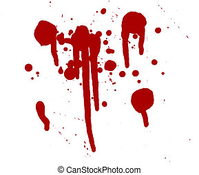 Blood Splatters Drips