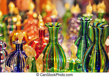 Glasswork on Murano Island, Italy - Glass making transition...