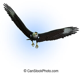 CaraCara Vulture in Flight - 3D render