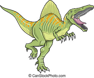 Spinosaurus Dinosaur Vector art - Spinosaurus Dinosaur...