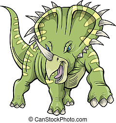 triceratops Dinosaur Vector Design Illustration