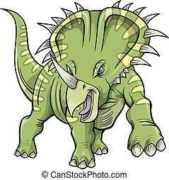 triceratops Dinosaur Vector Design Illustration