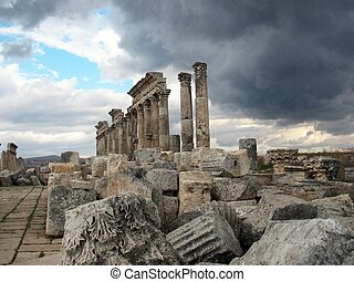 Apamea before a thunder-storm - Apamea is one of the most...