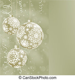 Elegant Christmas balls on abstract EPS 8 - Elegant...