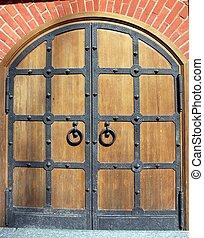 Wrought iron door - Door Auxiliary input into office space...