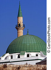 Mosques in Israel - Jezzar Pasha Mosque in Acre or Akko,...