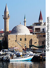 Mosques in Israel - Sinan Basha Mosque in Acre or Akko,...