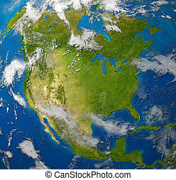 North america with the United States Canada and Mexico...