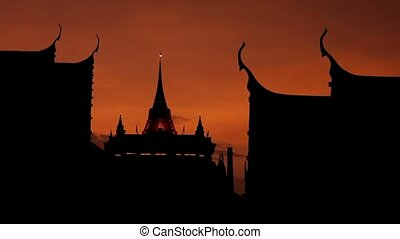 Buddhist Temple silhouette