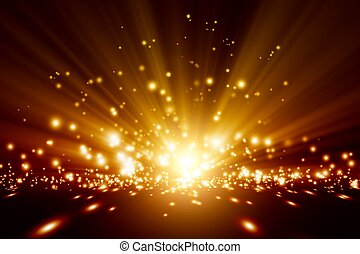 Bright lights - Abstract background - bright orange lights