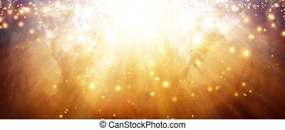 Magic sky - Magic background - bright sunlight form above