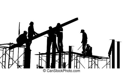 Black and white builders
