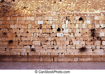 Wailing Wall Empty in Jerusalem - The wailing wall is empty...