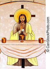 Latrun, monasterio, cristiano, Pintura