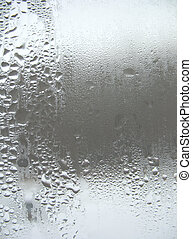 window glass and rain drops - There are window glass and...
