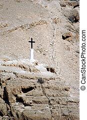 cruz, colina, monasterio, israel