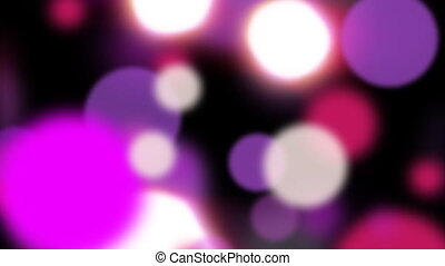 Purple and white particles.