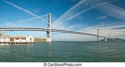 Suspension Oakland Bay Bridge in San Francisco to Yerba...