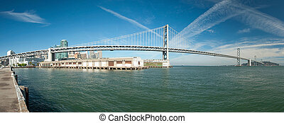 Suspension Oakland Bay Bridge in San Francisco to Yerba...