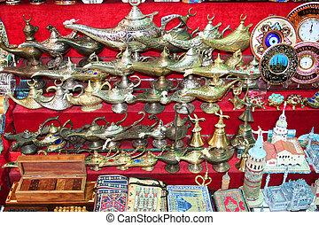 souvenirs at Grand Bazaar, istanbul