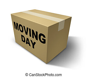 Moving day box representing movers and packaging for a move...