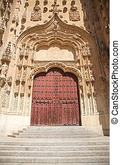 carved door of Salamanca cathedral