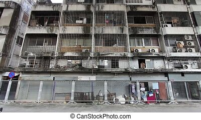 Slums - An apartment in a slum neighbour of bangkok