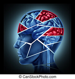Mental disability with brain injury and neurological...