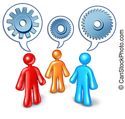 Business referrals and contact building symbol represented...