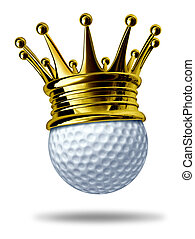 Golf tournament champion symbol represented by a white golf...