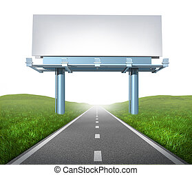 Highway billboard - Blank highway billboard sign in an...