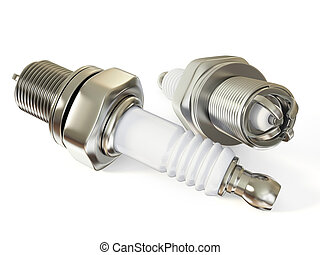 spark-plug isolated on a white background isolated.